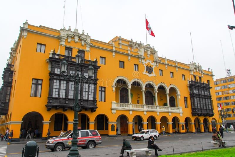 Kommunal byggnad - Lima, Peru royaltyfria foton