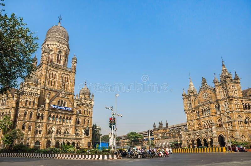 Kommunal Korporation som bygger BMC i Mumbai, Indien arkivfoton