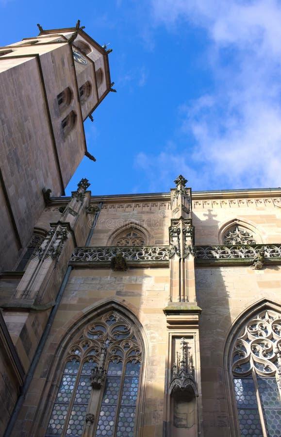 Kommunal kyrka - I - Schorndorf - Tyskland royaltyfria foton