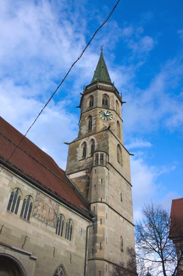 Kommunal kyrka - II - Schorndorf - Tyskland royaltyfria foton