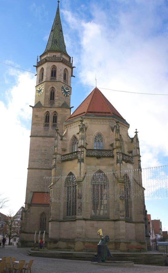 Kommunal kyrka - III - Schorndorf - Tyskland fotografering för bildbyråer