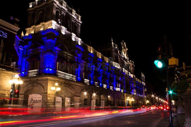 Kommunal slott Puebla fotografering för bildbyråer