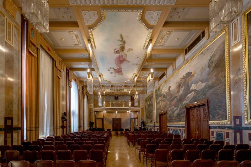 Kommunal Tjeckien för husPrague stad arkivfoton