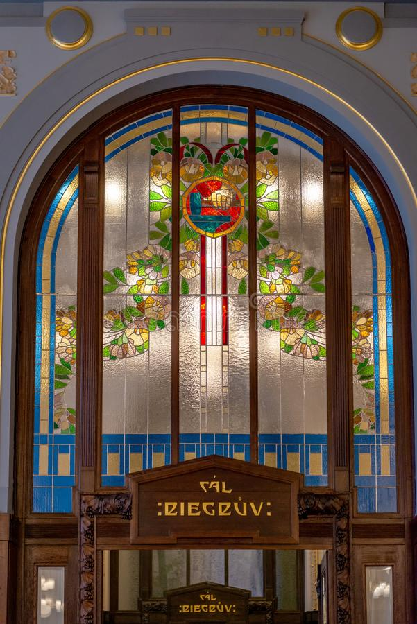 Kommunal Tjeckien för husPrague stad arkivbild