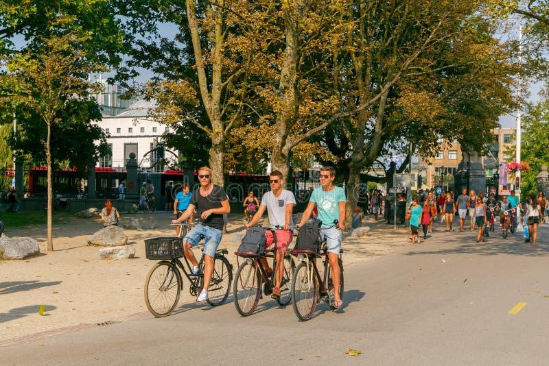 _ Kommunalt parkera Vondelpark royaltyfria foton