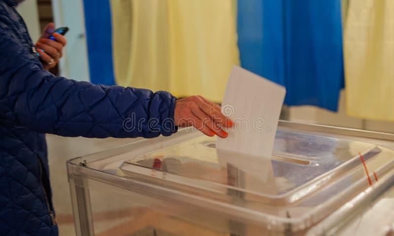 Kommunalval i Ukraina royaltyfria bilder