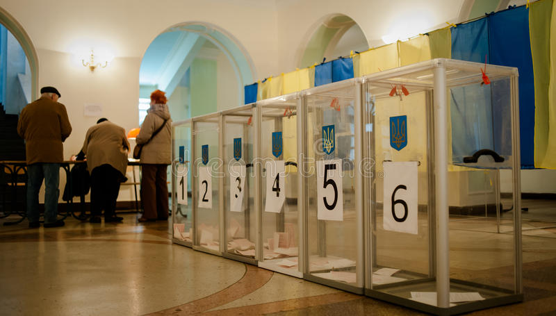 Kommunalval i Ukraina arkivfoto
