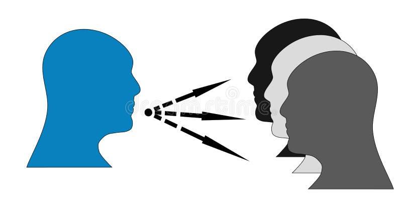 kommunikation stock illustrationer