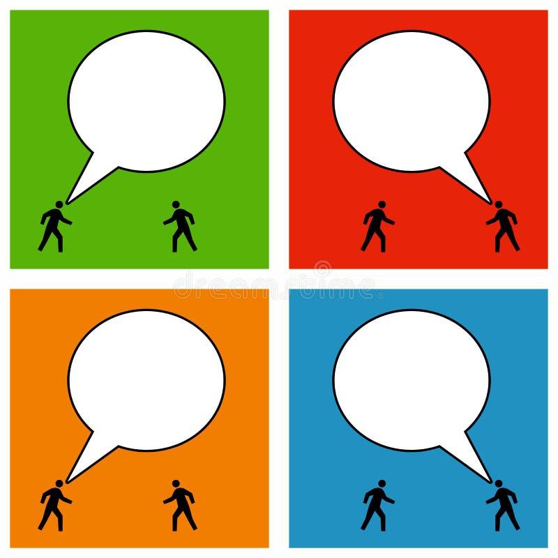 kommunikation royaltyfri illustrationer