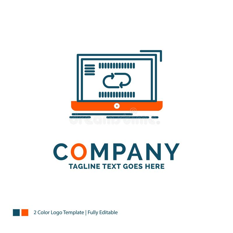 Kommunikation anslutning, sammanlänkning, synkronisering, synkronisering Logo Desi stock illustrationer