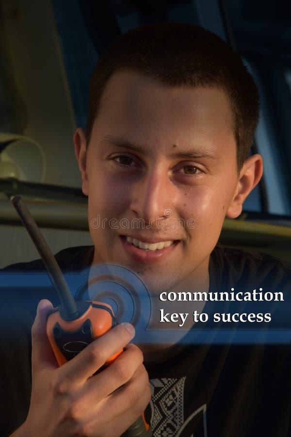 Kommunikation auf dem Schiff stockfotos