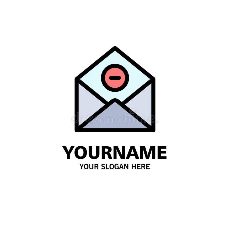 Kommunikation borttagnings, Borttagnings-post, Emailaffär Logo Template plan f?rg vektor illustrationer