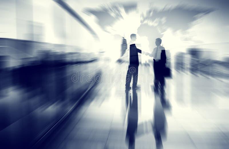 Kommunikation Concep för affärsidéidéCoopration beslut royaltyfria foton