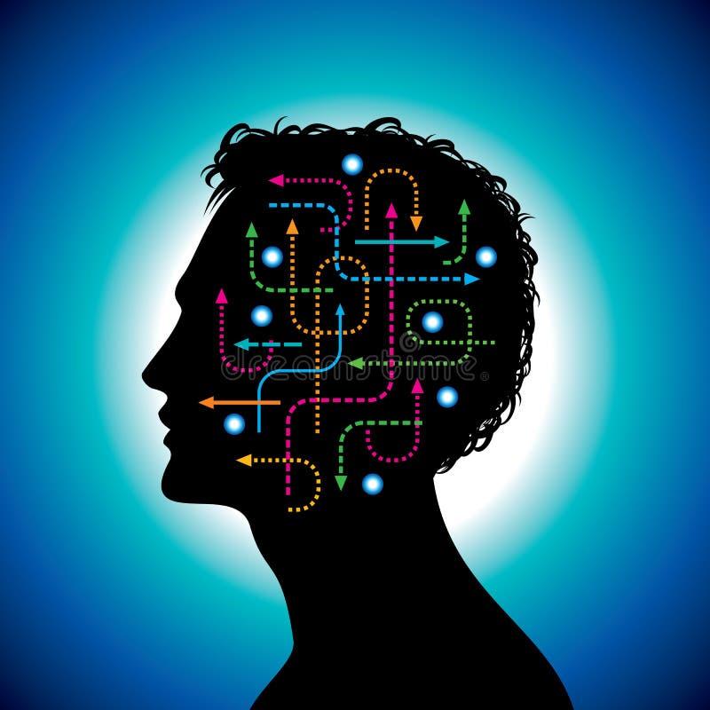 Kommunikation in den globalen Computernetzen stock abbildung