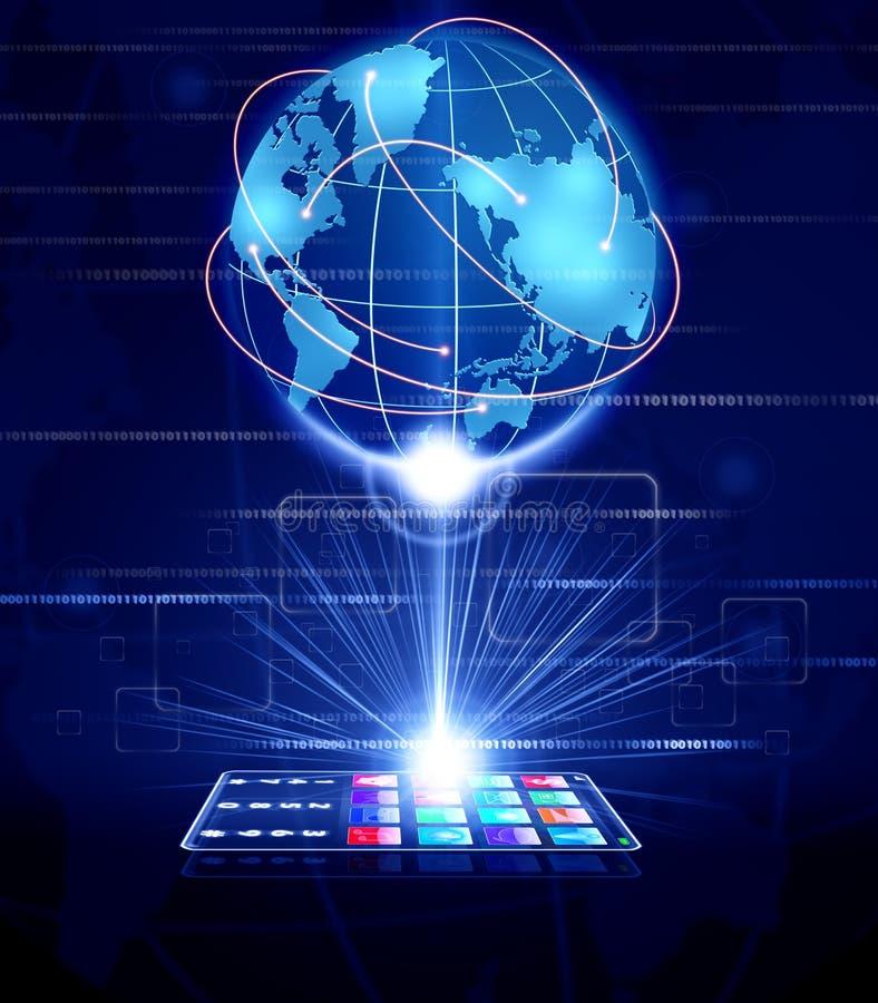 Kommunikation för global affär stock illustrationer