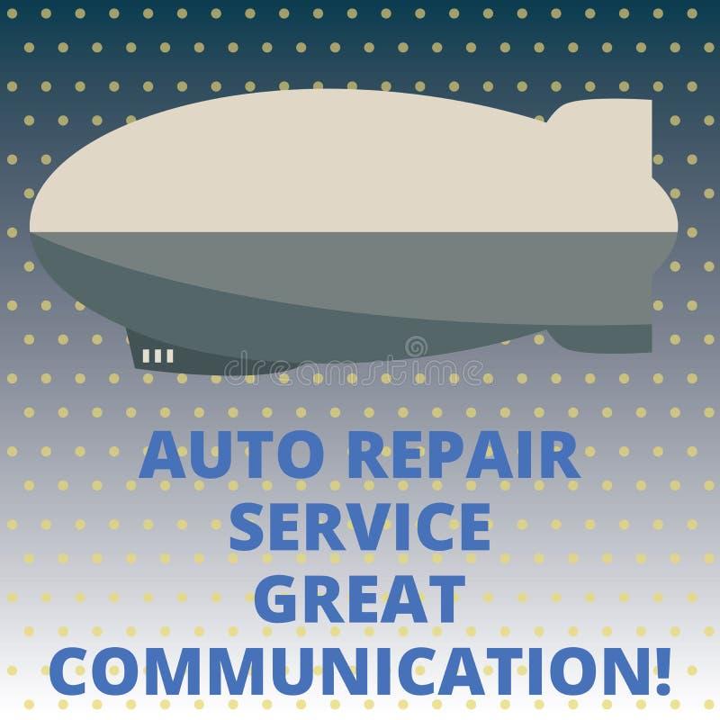 Kommunikation för service för automatisk reparation för handskrifttext stor Torped för tekniker för mekaniker för begreppsbetydel royaltyfri illustrationer