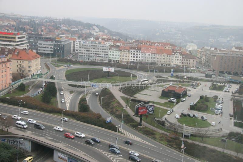 Kommunikation infrastructure_Prague lizenzfreies stockfoto