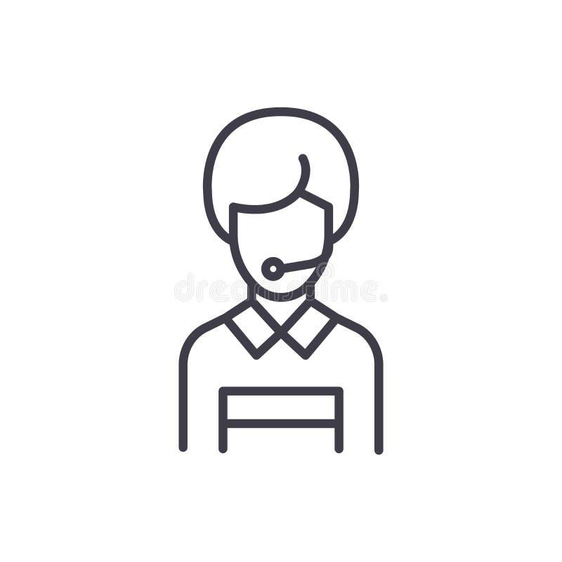 Kommunikation med svart symbolsbegrepp för kunder Kommunikationen med kunder sänker vektorsymbolet, tecknet, illustration royaltyfri illustrationer