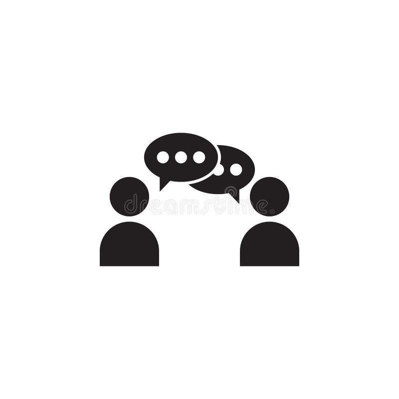 kommunikation mellan symbolen för två personer Detaljerad symbol av kamratskap och förhållandesymbolen Högvärdig kvalitets- grafi stock illustrationer