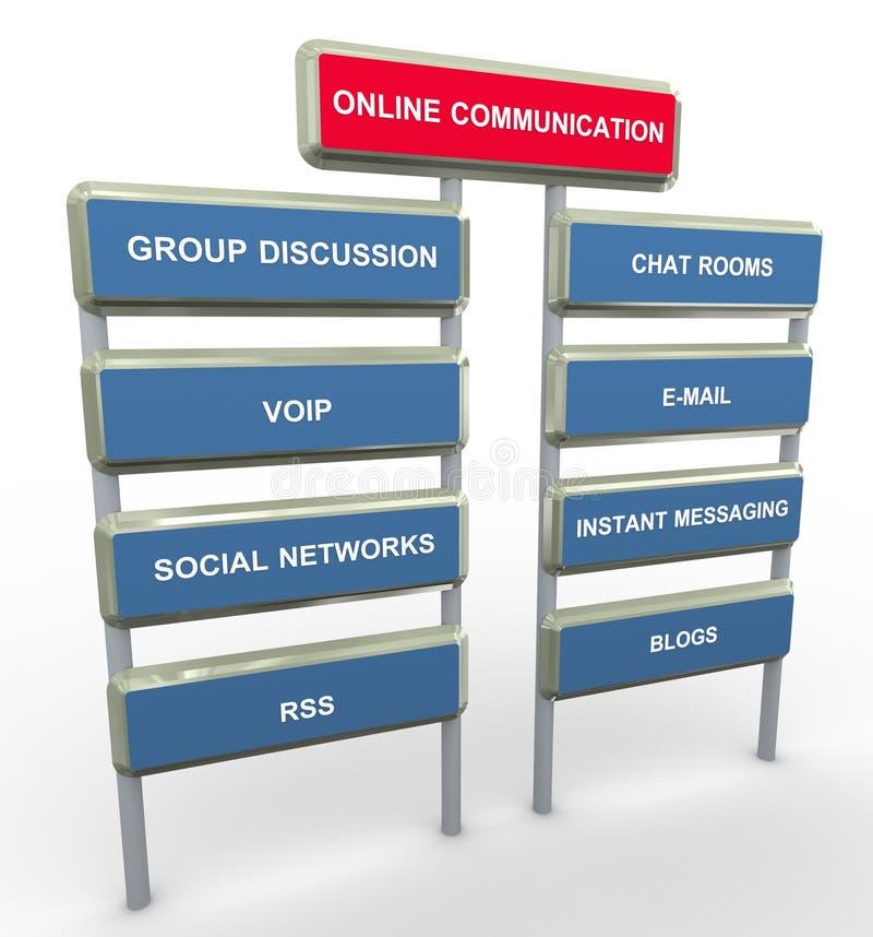 kommunikation online stock illustrationer
