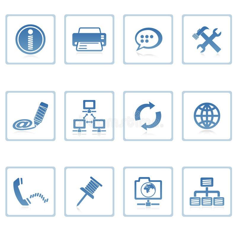 Kommunikation u. Internet-Ikone lizenzfreie abbildung