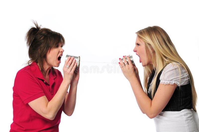 Kommunikation zwischen Erzeugungen stockfoto