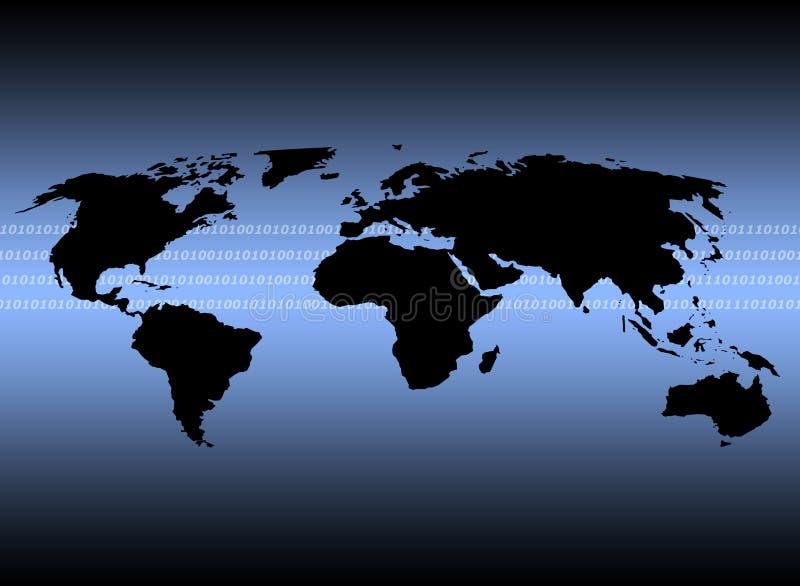 kommunikationer över hela världen stock illustrationer