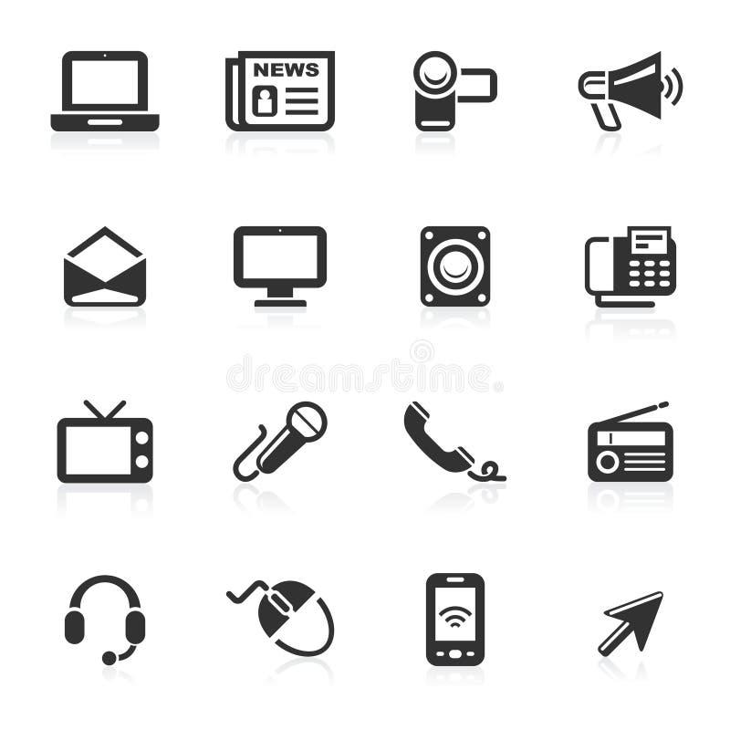 Kommunikations-Ikonen 1 - minimo Serie lizenzfreies stockfoto