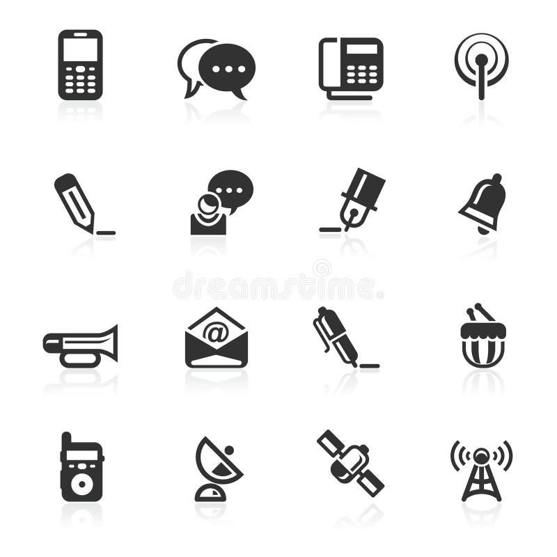 Kommunikations-Ikonen 2 - minimo Serie lizenzfreies stockfoto