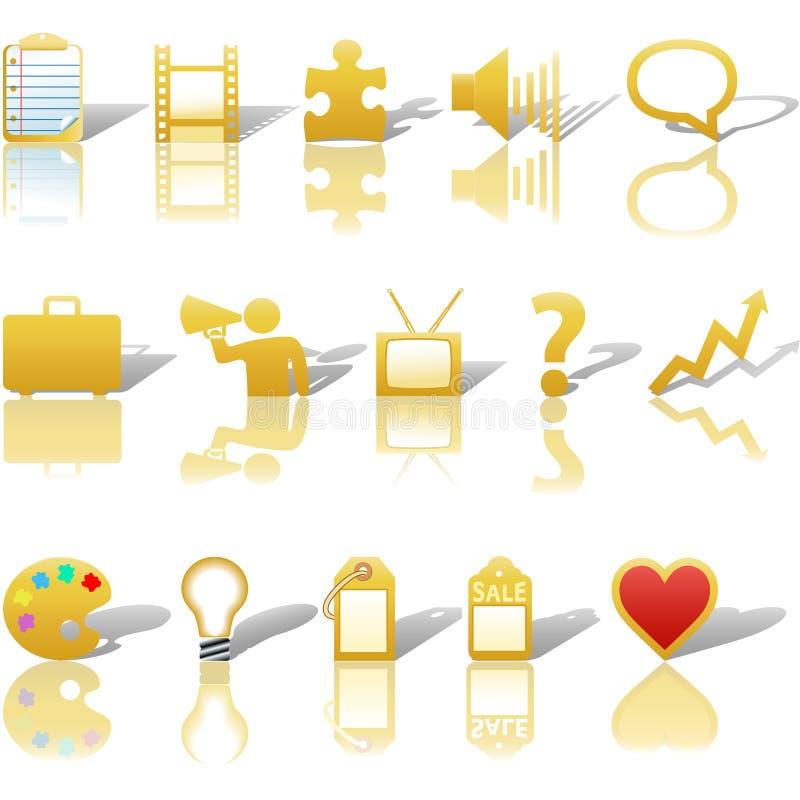 Kommunikations-Ikonen-Gold