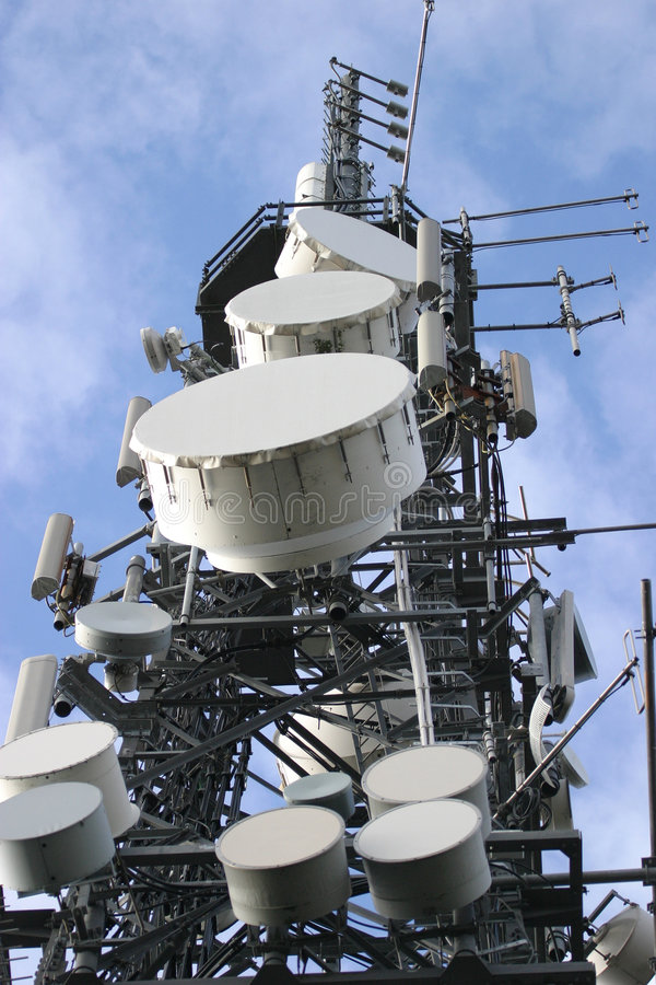 Kommunikations-Mast stockfotos
