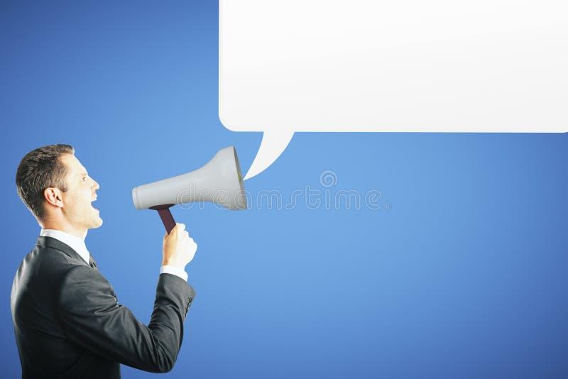 Kommunikations- och stämmabegrepp arkivfoton