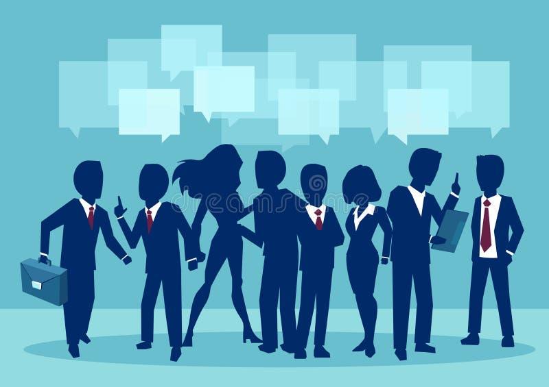 Kommunikations-, teamwork- och anslutningsvektorbegrepp vektor illustrationer