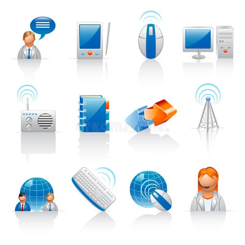 Kommunikations- und Internet-Ikonen stock abbildung