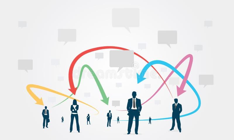 Download Kommunikationsaffär För Social Grupp Stock Illustrationer - Illustration av pratstund, kvinnor: 37348474