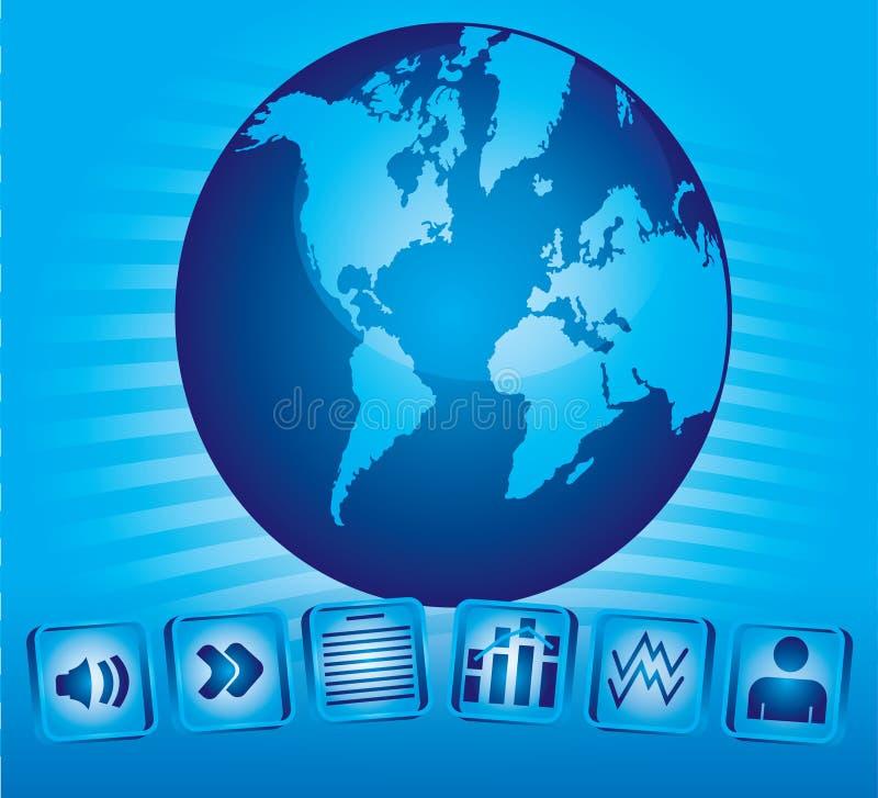 kommunikationsbegrepp stock illustrationer
