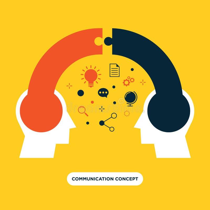 Kommunikationsbegrepp, design för åsiktutbyteslägenhet royaltyfri illustrationer