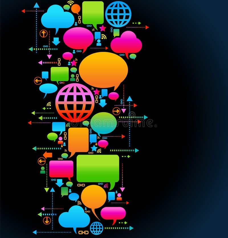 Kommunikationshintergrund lizenzfreie abbildung
