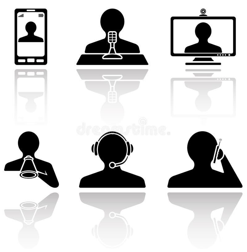 Kommunikationsikonen stock abbildung