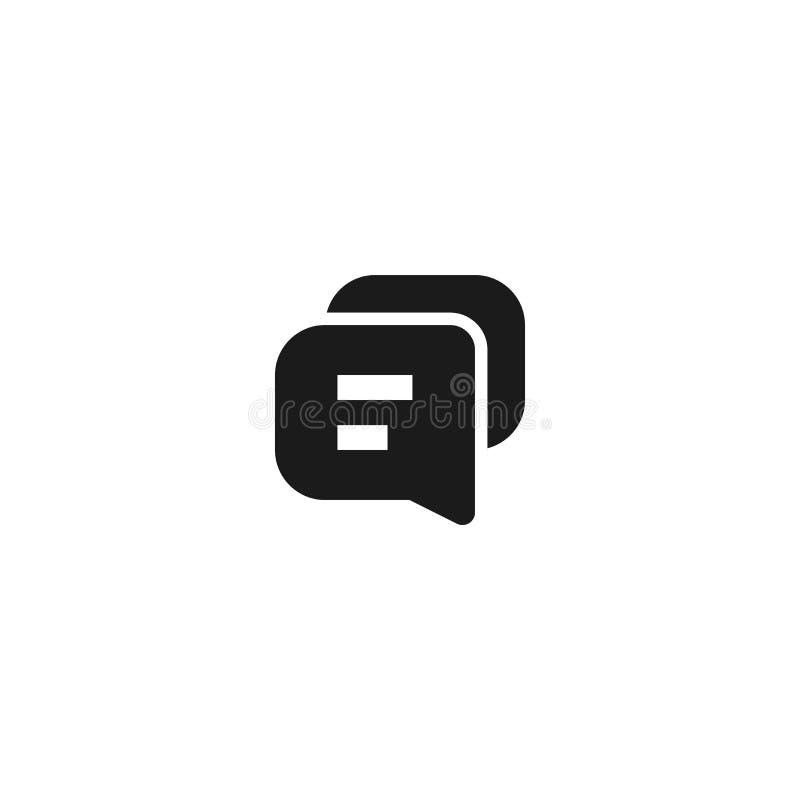 Kommunikationsikonendesign Blasentext-Schwätzchensymbol einfache saubere Berufsgeschäftsführungs-Konzeptvektorillustration lizenzfreie abbildung