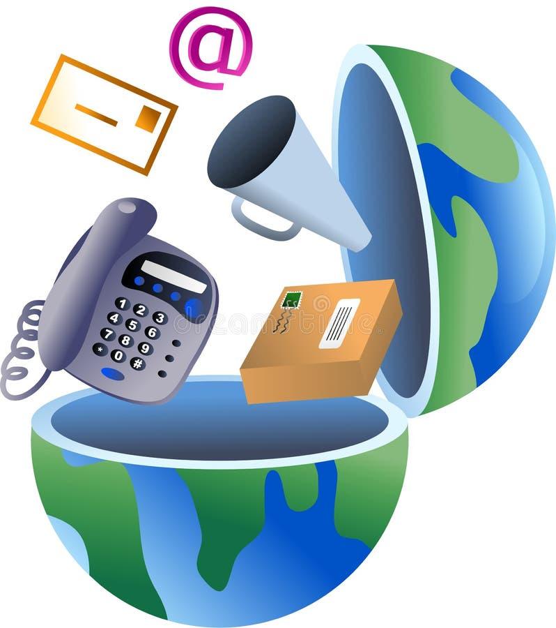 kommunikationsjordklot stock illustrationer