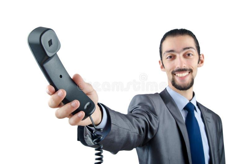 Kommunikationskonzept mit Telefon stockfoto