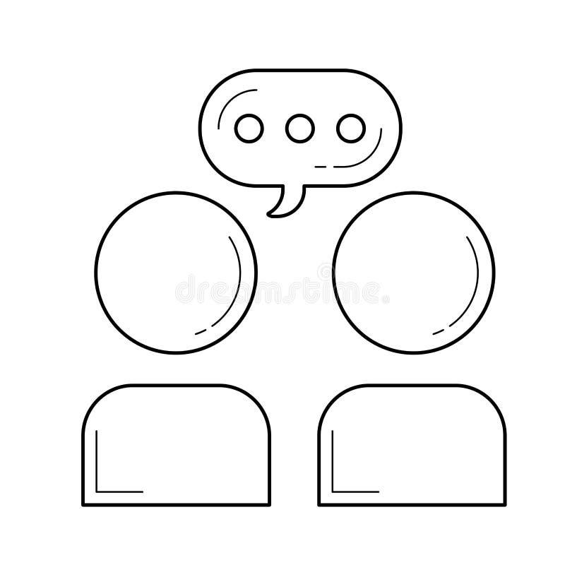 Kommunikationslinje symbol vektor illustrationer