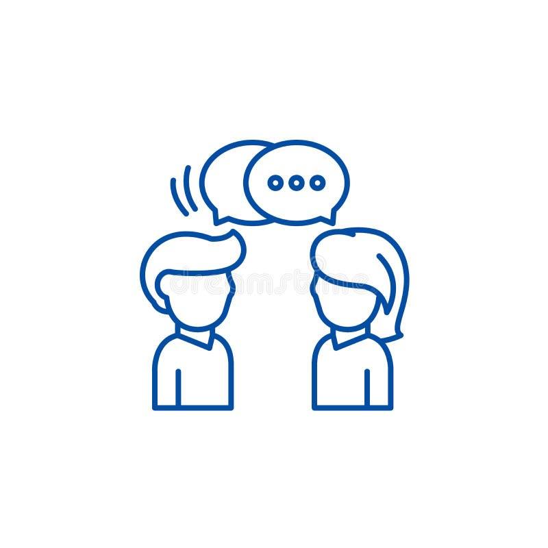 Kommunikationslinje symbolsbegrepp Plant vektorsymbol för kommunikation, tecken, översiktsillustration stock illustrationer