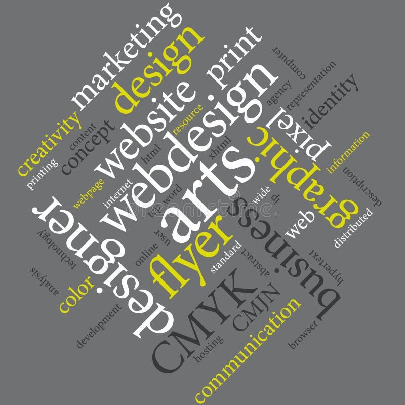 Kommunikationsmarketing-Grafikdesignagenturplakat vektor abbildung