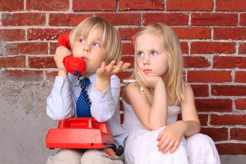 kommunikationsparförhållande arkivfoto
