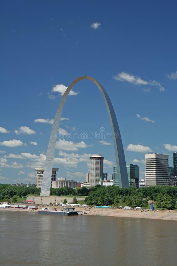 Kommunikationsrechner-Bogen in St. Louis stockbild