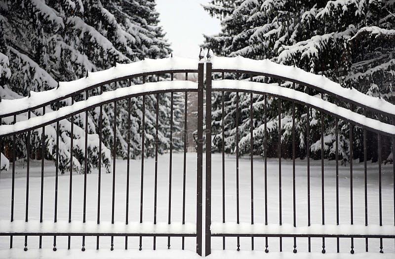 Kommunikationsrechner in Winter lizenzfreie stockfotografie