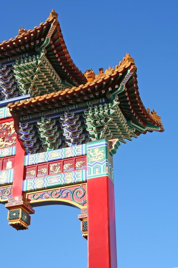 Kommunikationsrechner zu Chinatown stockfotos