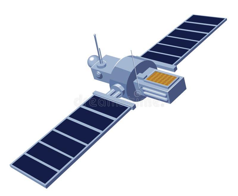 kommunikationssatellit royaltyfri illustrationer